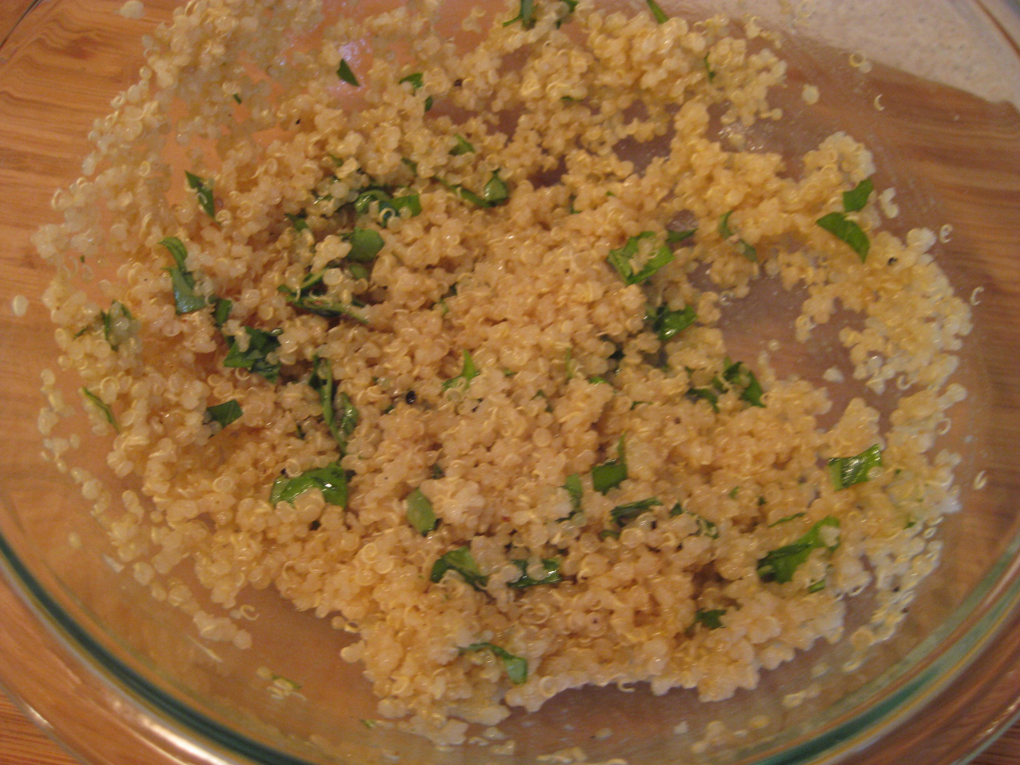 Black Bean Quinoa Salad with Lemon-Basil Dressing | Jess ...